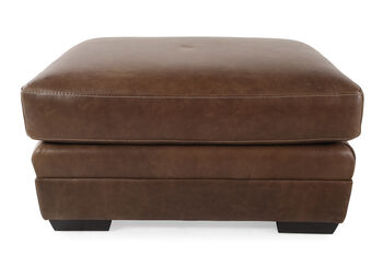 Bernhardt Tolbert Leather Ottoman Mathis Brothers Furniture