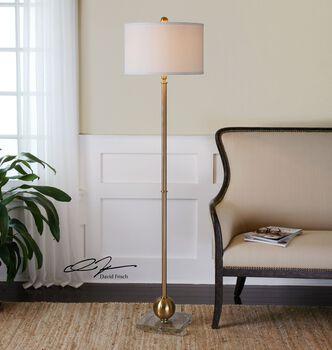 Uttermost Laton Brass Sphere Floor Lamp