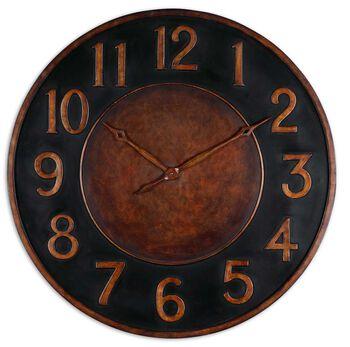 "Uttermost Matera 36"" Metal Wall Clock"