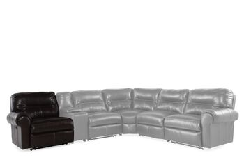 Lane Brandon Coffee Left Arm Facing Power Recliner for Sectional
