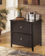 Ashley Carlyle Almost Black Lateral File Cabinet