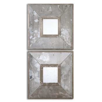 Uttermost Gisila Squares Antiqued Mirrors S/2