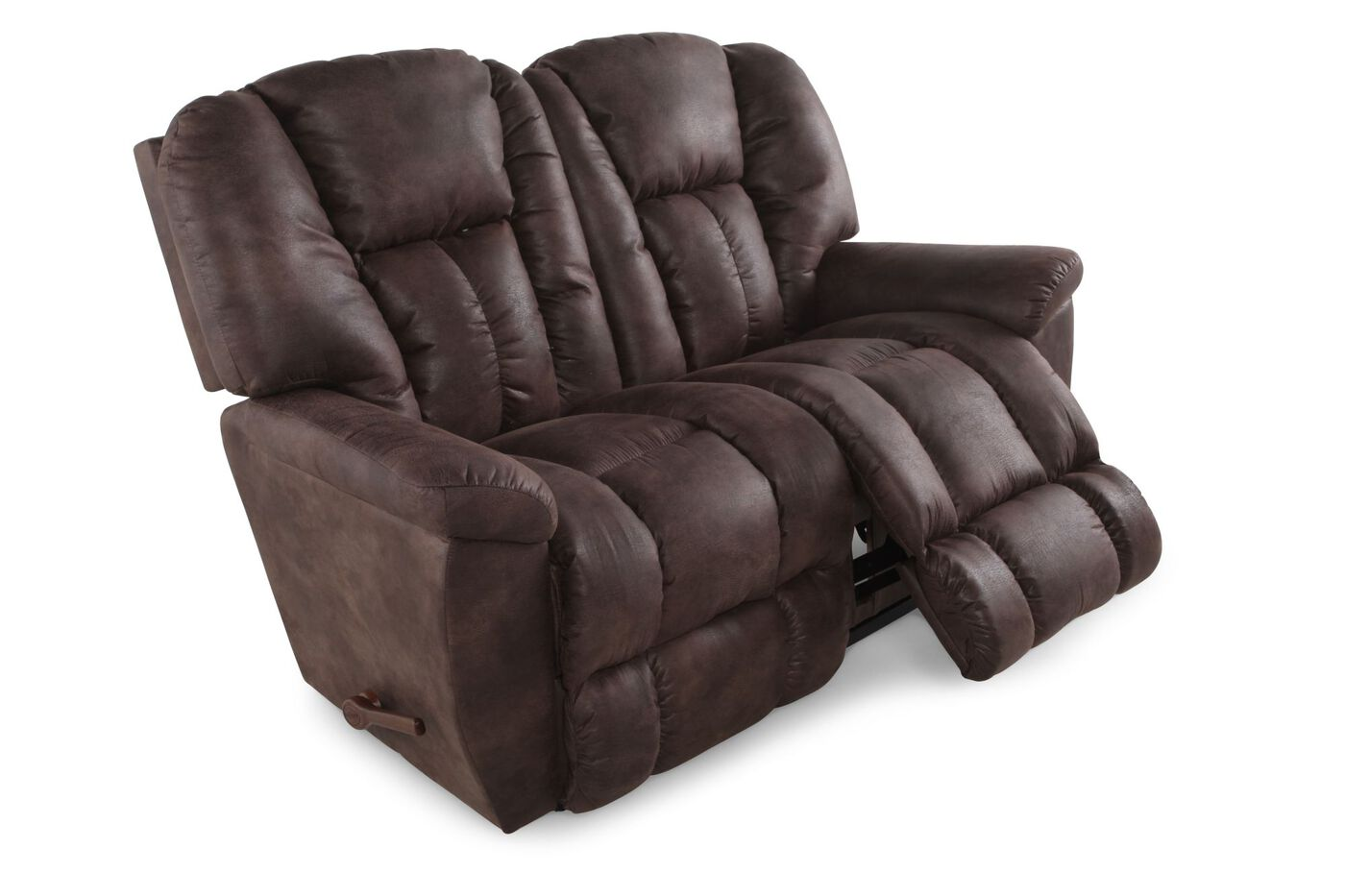La Z Boy Maverick Sepia Reclining Loveseat Mathis Brothers Furniture
