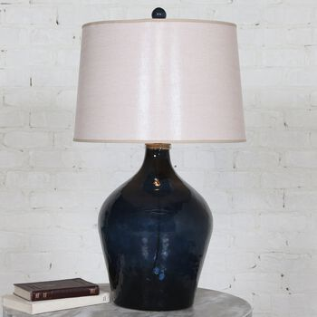 Uttermost Lamone Blue Glass Lamp