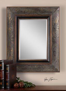 Uttermost Bovara Rustic Bronze Mirror