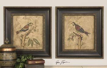 Uttermost Colorful Birds On Branch Art Set/2