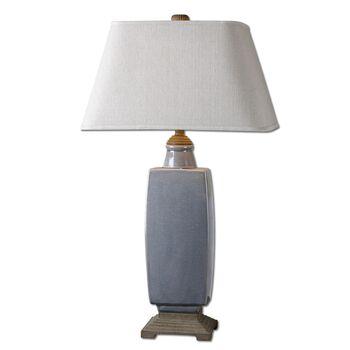 Uttermost Tilton Light Gray Ceramic Table Lamp