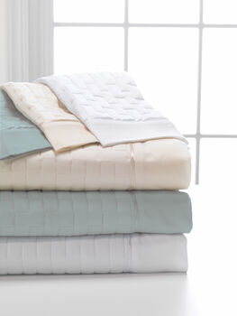 Dreamfit Quilted 6°/tencel Twin Xl Cream Sheet Ensemble