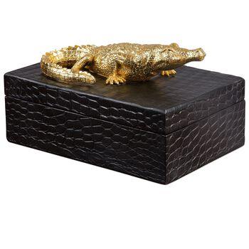 Uttermost Gold Crocodile Box