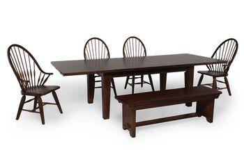 Broyhill Attic Rustic Oak Six-Piece Dining Set