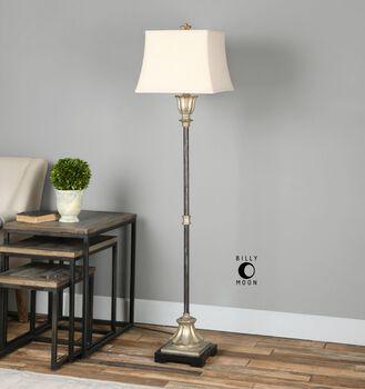 Uttermost La Morra Antiqued Silver Floor Lamp