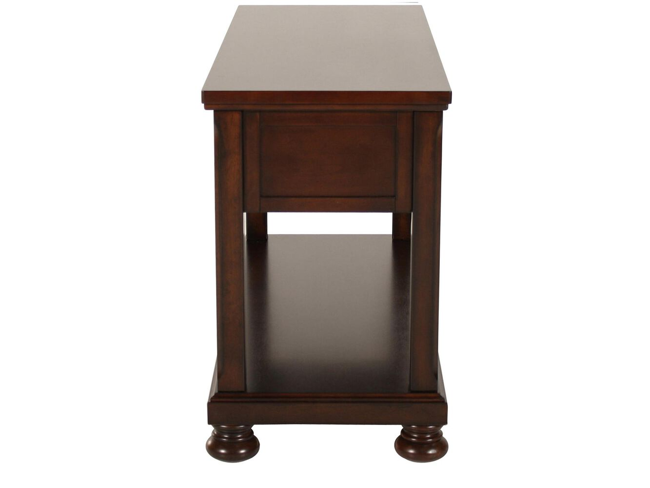 Ashley porter sofa table mathis brothers furniture for Sofa table vs console table