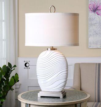 Uttermost Valleve Gloss White Table Lamp