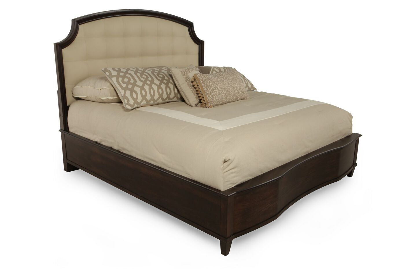A R T Furniture Intrigue Leather Panel Bed Mathis
