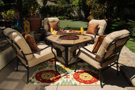 Agio Heritage Fire Pit with Tile Inlay