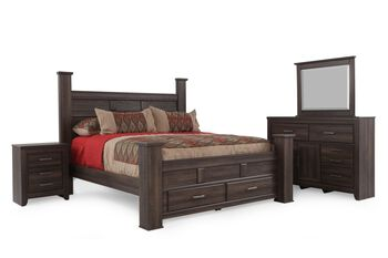 Ashley juararo queen bedroom suite mathis brothers furniture for Ashley furniture bedroom suites