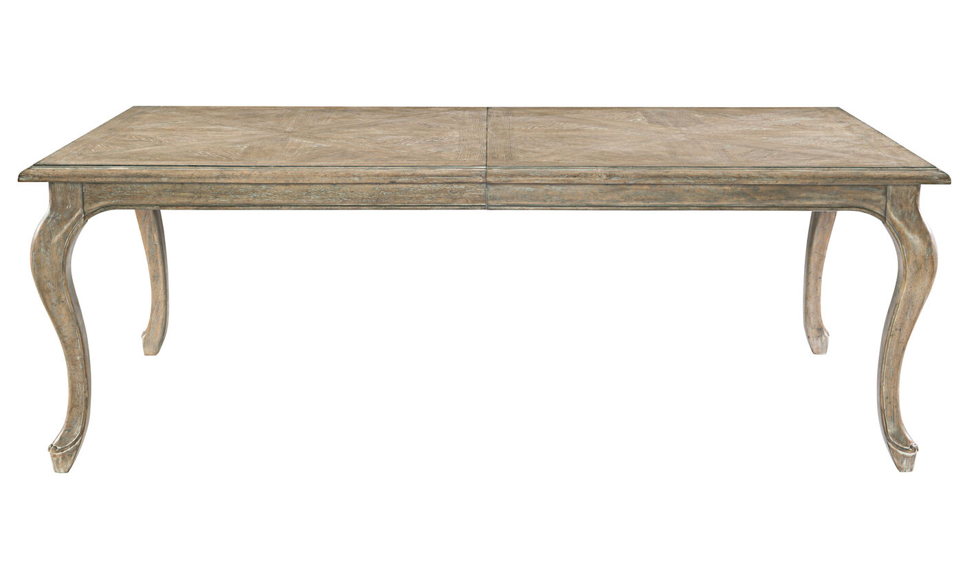 Bernhardt Campania Weathered Sand Dining Table Mathis Brothers Furniture