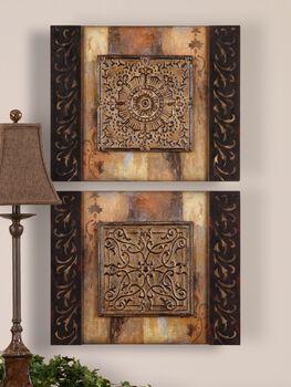 Uttermost Ornamentational Block Art Set/2