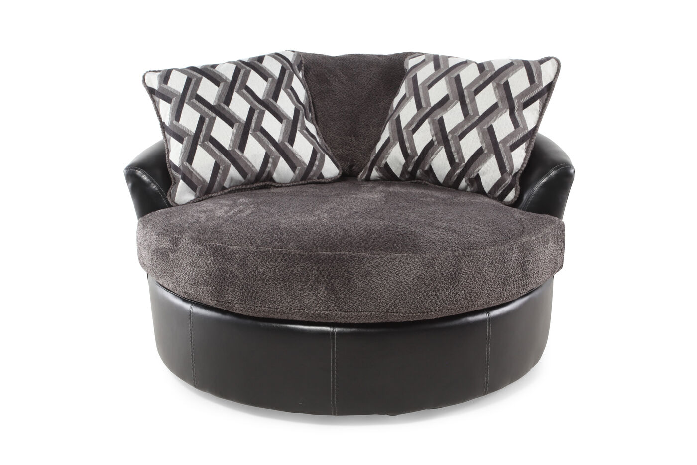 Ashley Kumasi Smoke Oversized Swivel Accent Chair Mathis