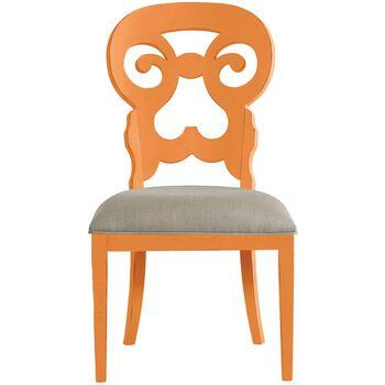 Stanley Coastal Living Retreat Spanish Orange Wayfarer Side Chair