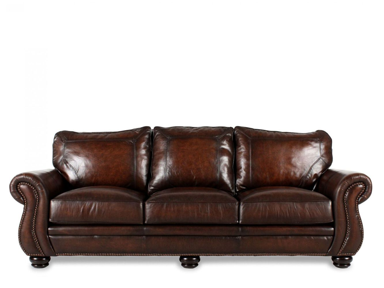 Bernhardt leather sofa mathis brothers for Bernhardt furniture