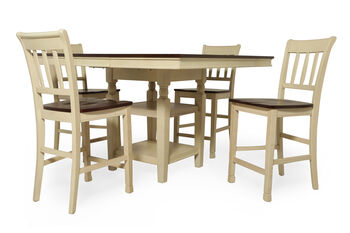 Ashley whitesburg five piece pub table set mathis for Whitesburg dining room table