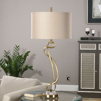 Uttermost Shalin Brushed Brass Lamp