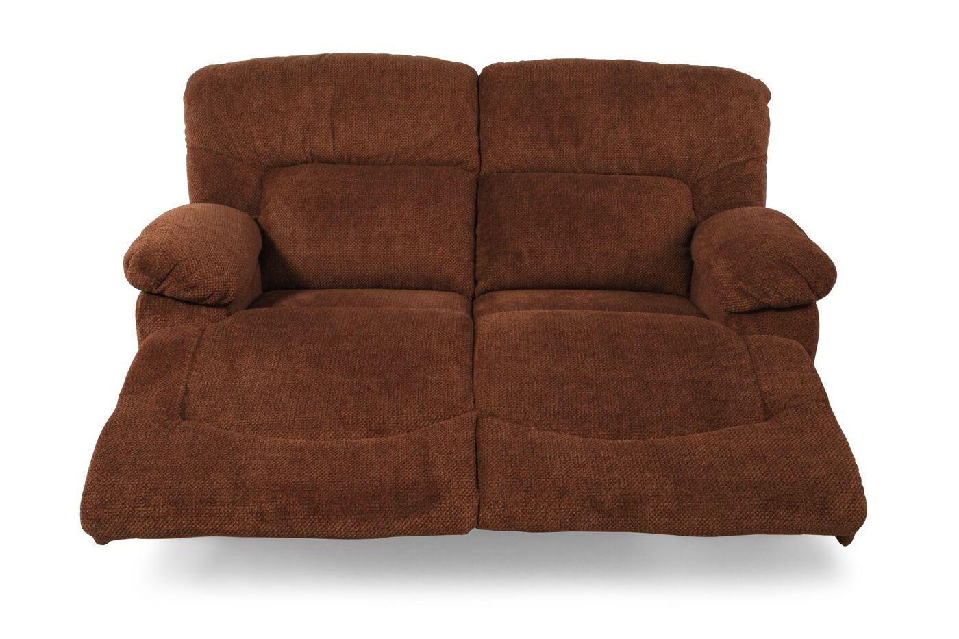 La Z Boy Asher Caramel Reclining Loveseat Mathis Brothers Furniture