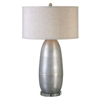 Uttermost Tartaro Industrial Silver Table Lamp