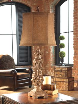 Uttermost Gia Scrolled Buffet Lamp