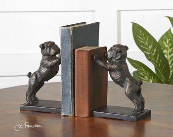 Uttermost Bulldogs Cast Iron Bookends, Set/2