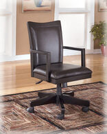 Ashley Carlyle Almost Black Home Office Swivel Desk Chair