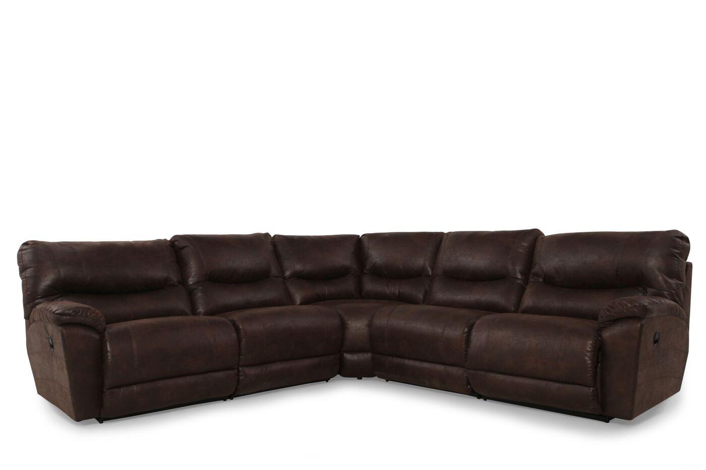 La z boy dawson sable five piece sectional mathis for La z boy sectional sofas