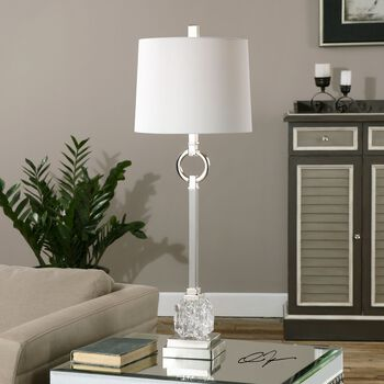 Uttermost Bordolano Polished Nickel Buffet Lamp
