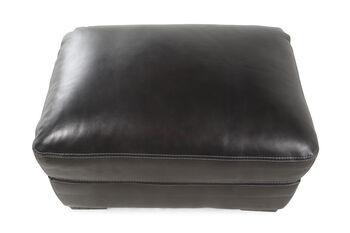 Simon Li Las Vegas Pewter Leather Ottoman