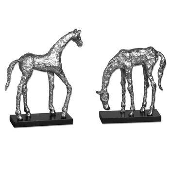 Uttermost Let's Graze Horse Statues, S/2