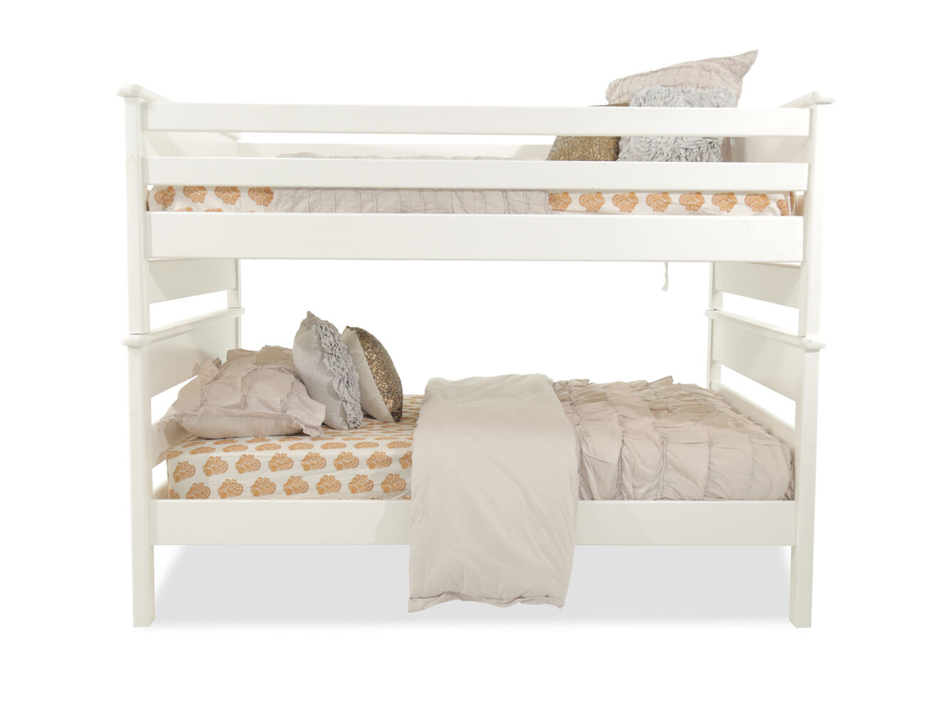 Mathis Brothers Bedroom Furniture Trendwood Laguna White Full Over Full Bunk Bed Mathis Brothers