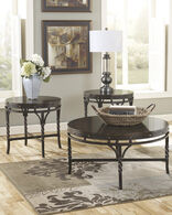 Ashley Brindleton Brown Occasional Table Set