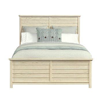 Stone & Leigh Driftwood Park Vanilla Oak Queen Panel Bed