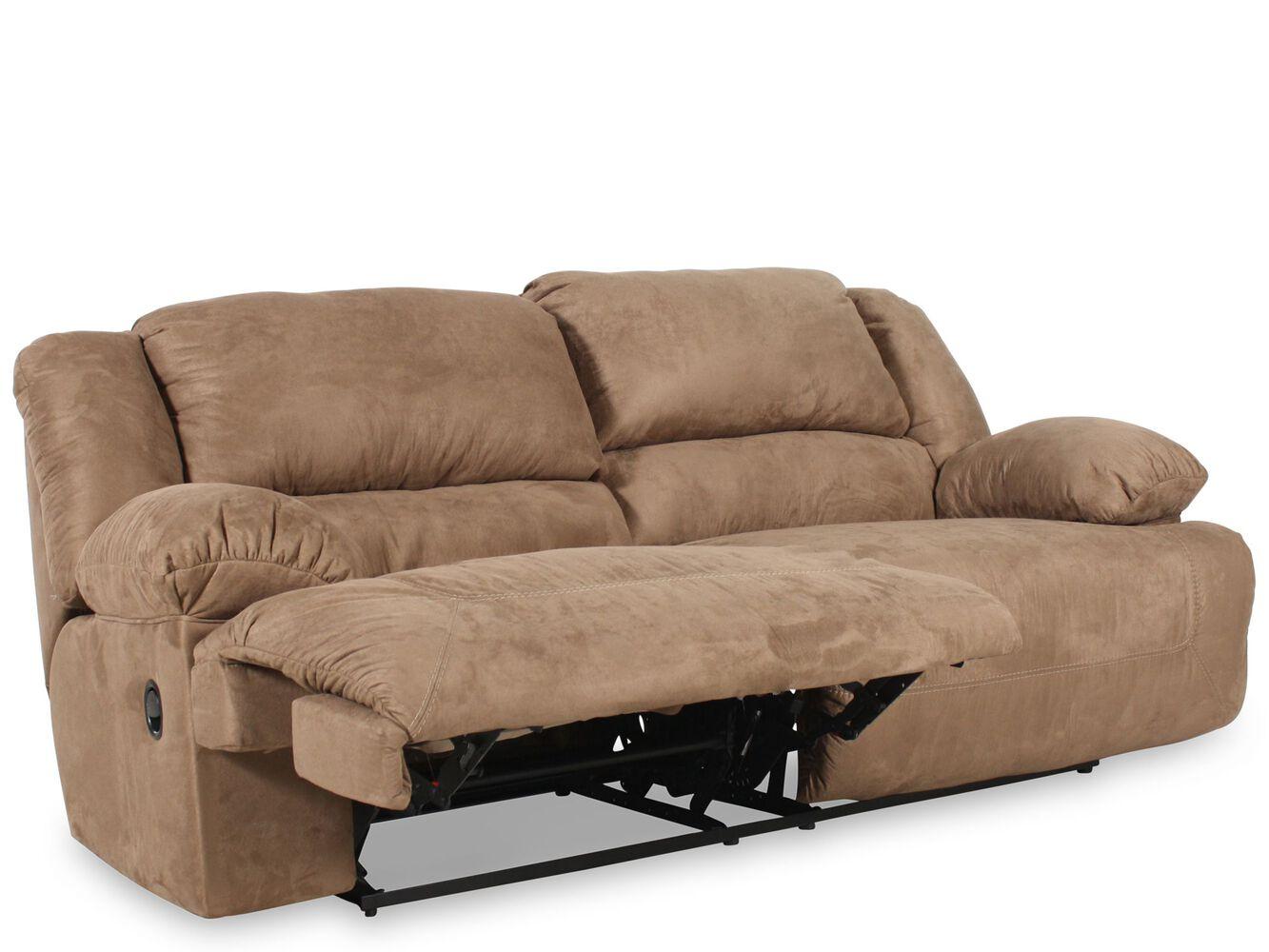 Ashley Hogan Mocha Two Seat Reclining Sofa Mathis