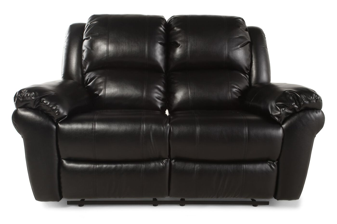 Boulevard Black Motion Reclining Loveseat Mathis Brothers Furniture
