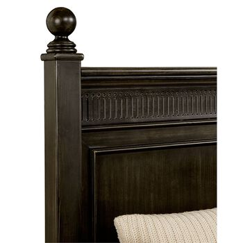 Stone & Leigh Smiling Hill Licorice Panel Bed