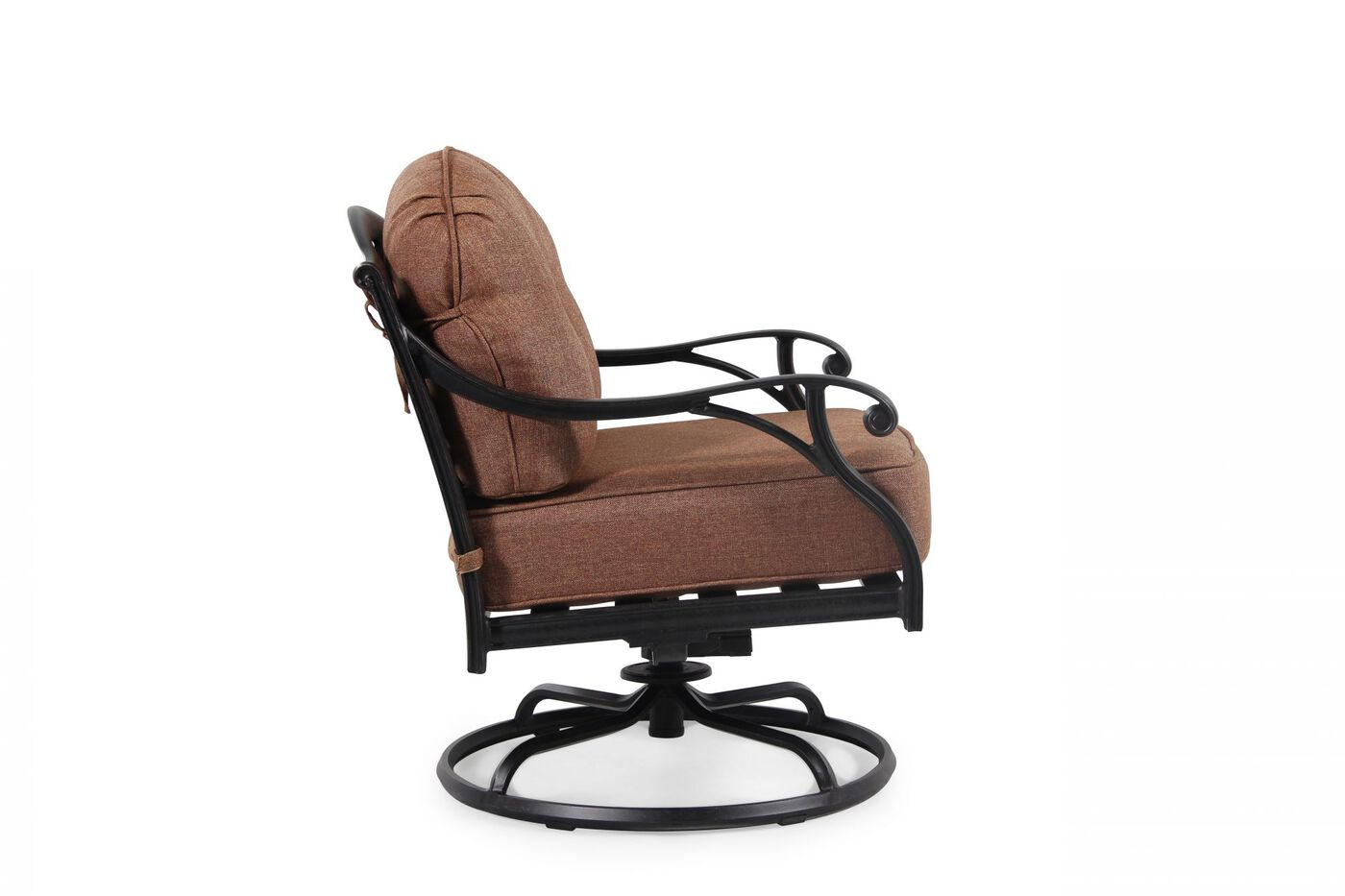 World Source Castle Rock Patio Swivel Club Chair Mathis
