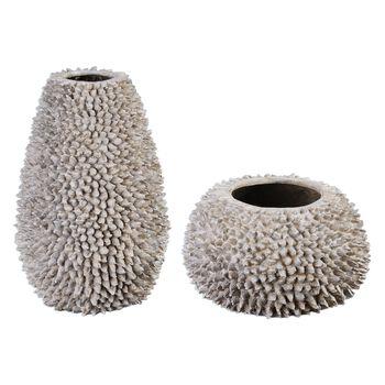 Uttermost Mollusca Seashell Vases S/2
