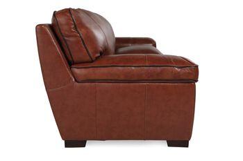 Simon Li Leather Stampede Chestnut Sofa