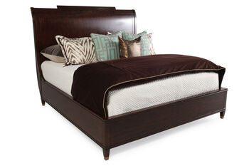 Hooker skyline platform sleigh bed mathis brothers furniture for Cityscape bedroom furniture collection