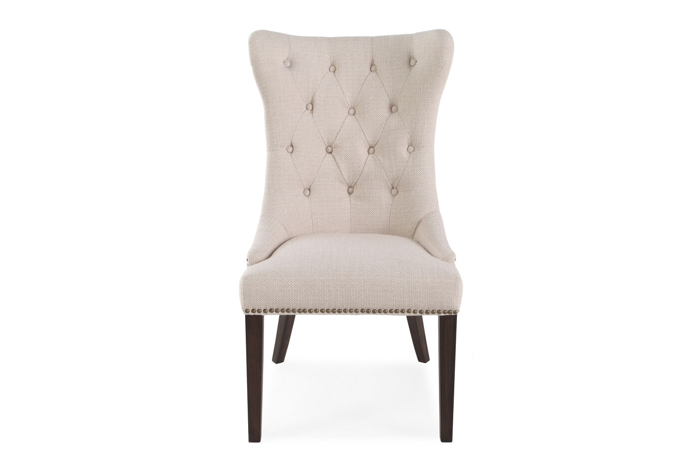Boulevard Oatmeal Tufted Back Dining Chair | Mathis ...