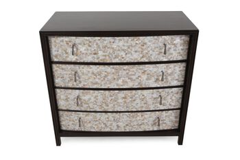 Hooker Four Drawer Mother of Pearl Chest