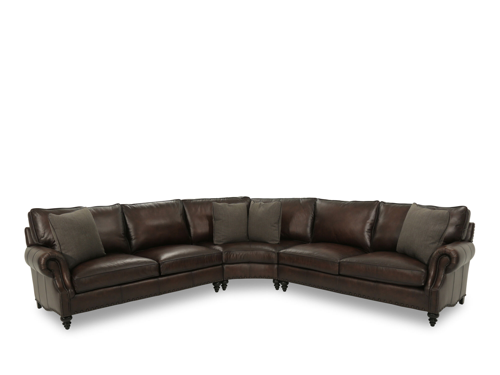 Bernhardt Fleming Leather Sectional SofaMathis Brothers Furniture