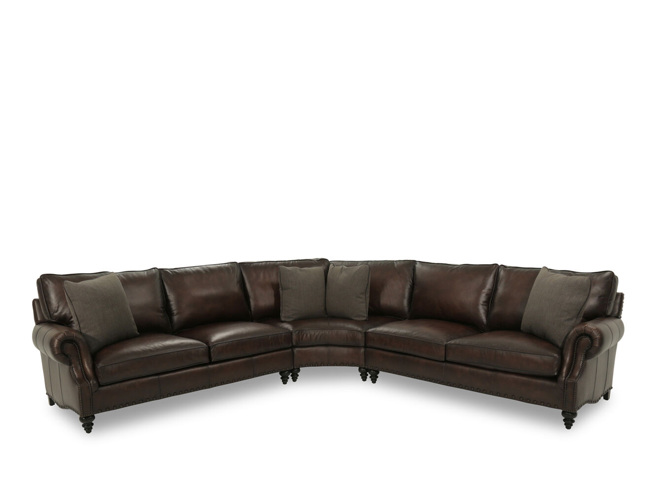 bernhardt fleming leather sectional sofa mathis brothers With bernhardt furniture sectional sofa